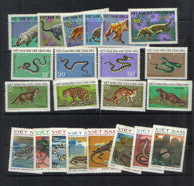 North Vietnam 1967-75 Four sets unmounted mint