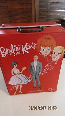 VINTAGE 1964 Barbie & Ken  DOLL CASE TRUNK