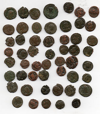 Job Lot Of 53 Roman Coins Mainly 4Th Century