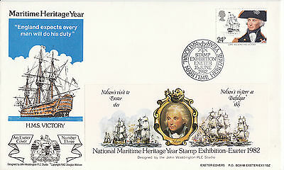 G.B 1982 Maritime Heritage Stamp Exhibition Cover 3