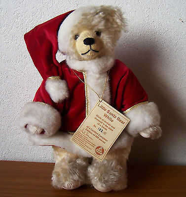 "Hermann Bear ""Little Santa Bear White) Limited Edition (Mohair)"