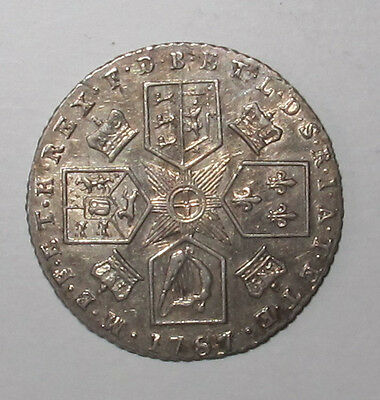 1787 George Iii Sixpence Very High Grade Bright Lustre. Near Unc Beautiful Coin