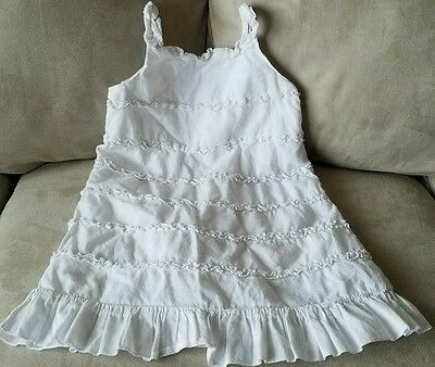 Euc!!girls Size 2T, White, Ruffled, Spring/summer Dress From Old Navy
