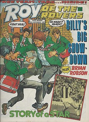 Roy of the Rovers Comic , 26th September 1987