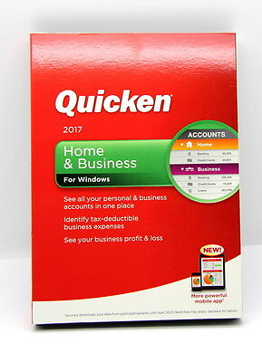 Quicken Home & Business 2017 For Windows .( New ).