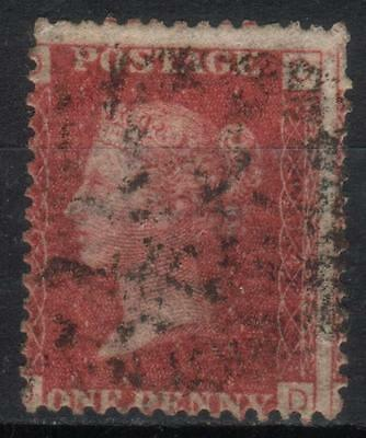 Queen Victoria Penny Red,1858-79, SG43/44, used, plate 134