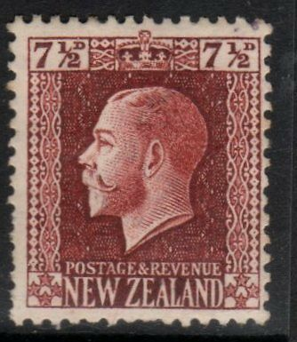 NZ SG426, CPK9a, George Fifth Recess 71/2d Red-Brown, Perf 14 x 13.5, H Mint