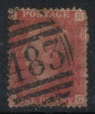 Queen Victoria Penny Red,1858-79, SG43/44, used, plate 158