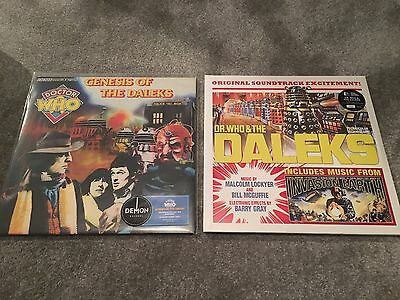 """DOCTOR WHO - 2 x RECORD STORE DAY VINYL, BLUE & 2 X YELLOW 12"""", LOW NUMBER"""