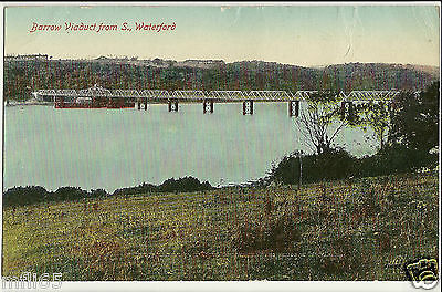 Vintage Postcard (1920) - Barrow Viaduct from S., Waterford - Valentines - Postd
