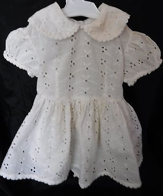 Vintage Frock FITS Patty PlayPal WHITE EYELET Doll Dress TOP BLOUSE Outfit