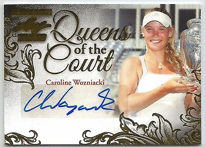 2015 Leaf Ultimate Caroline Wozniacki @ 10/10 @ Gold Auto Queens Of The Court