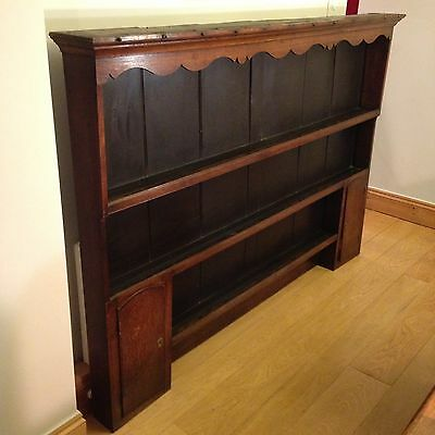 Georgian Dresser Top Antique With Plate Rack And Cupboards Oak