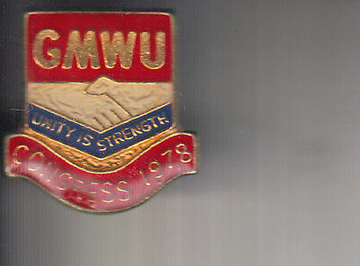 Nugmw Gmwu Gmb General Workers Conference Trade Union Badge-