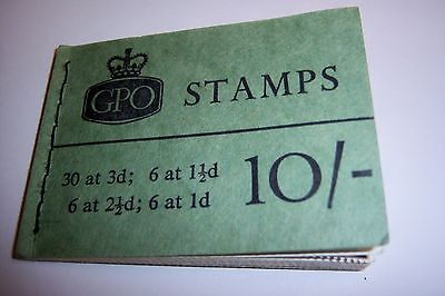 10/- Stamp Booklet August 1962 Number X4 Fairly Rare Good Condition