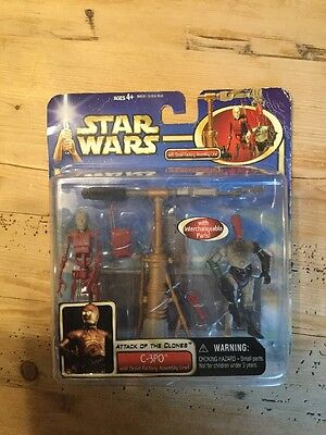 Star Wars C3PO. Attack Of The Clones. With Droid Factory Assembly Line. RARE
