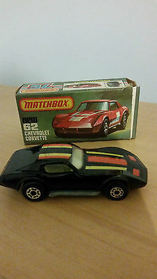 Vintage Matchbox Boxed Diecast 75 Series Superfast No 62 Chevrolet Corvette