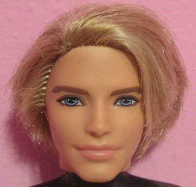 Modern Fashionista KEN Doll HEAD w/ Long Blonde Rooted Hair Barbie Friend