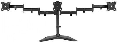 "VonHaus Triple Monitor Mount Stand LCD LED Desk Vesa Ergolynx TV 13-27"" Screens"