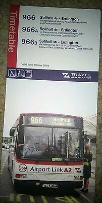 West Midlands Travel 966 bus timetable dated 2005