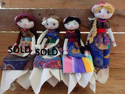 Handmade OOAK Rustic/Ethnic Rag Doll/Poppet - Gypsy, Witch, Hippy, Boho, Country