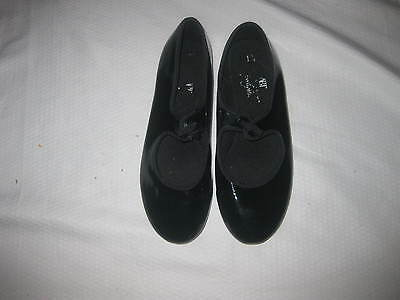 "Cute! ! ""abt Spotlight"" Girl   Youth Tap Dance Shoes Sz 1.5"
