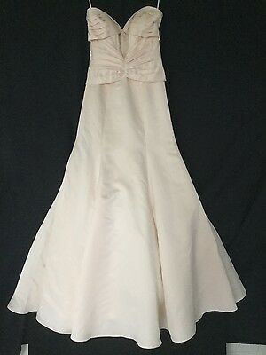 Formal Long Satin Evening Ball Gown Party Prom Bridesmaid Dress Light Orange