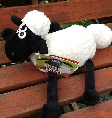 "Shaun the Sheep tail pull vibrating 11"" Plush soft toy With tags Unused"