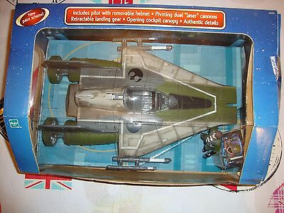 """STAR WARS ROTJ  """"A-WING FIGHTER"""" includes A-WING pilot figure"""