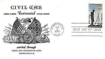 1182 5c Appomattox, First Day Cover Cachet [B161293]