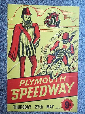 Speedway programme Plymouth v Rayleigh 1954