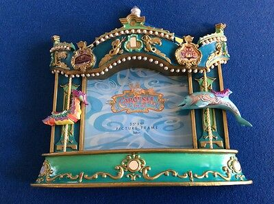 "Disney photo frame:  Carousel of the Sea, 3.5"" x 5"" (outside dimensions 7"" x 7"")"