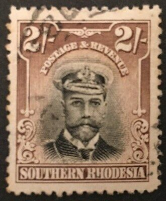 SOUTHERN RHODESIA.1924-29. KGV. Fine Used Stamp. SG 12. 2s Black & Brown