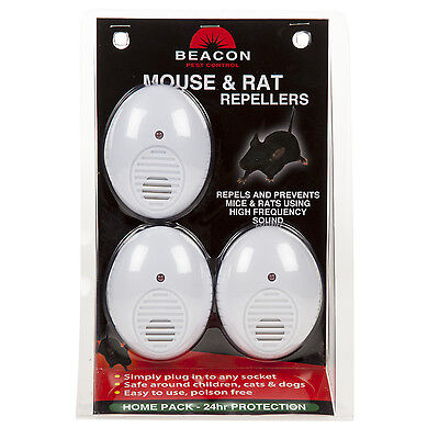 New Electronic Ultrasonic Mouse Mice Rat Rodent Repeller, Pest Control
