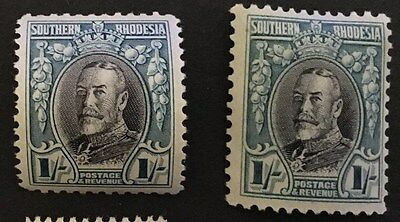 SOUTHERN RHODESIA. KGV. Very Lightly Mounted Mint Stamps. SG 23 & SG 23a.