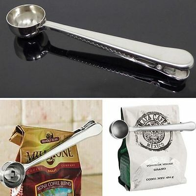Measuring Tools Silver With Spoon Tea Seal Clip Stainless Steel Coffee Spoon