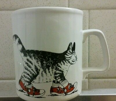 Vintage B Kliban Cat Sneakers Coffee Mug Cup Made in England