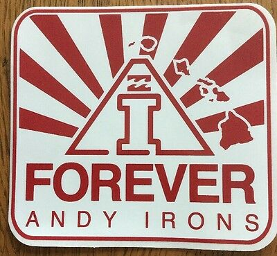 Rare Andy Irons-A.i. Forever-Billabong Sticker-New/unused Red Decal-Surf Kauai