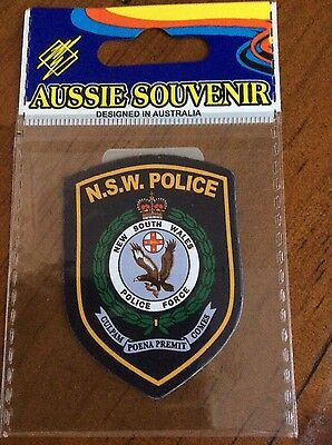 NSW Police Force patch magnet, Australia, Brand N&S, RARE**