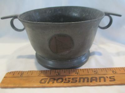 Boston Yacht Club Marblehead MA Pewter  Copper Mixed Metal Trophy Porringer 1921