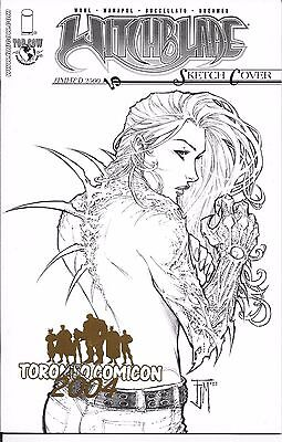 Witchblade # 70 Gold Foil Print Toronto Comicon 1 of 99 issued Rare