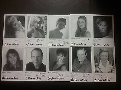Home And Away Tv Soap Rare Set Of Signed Fan Cards X 16