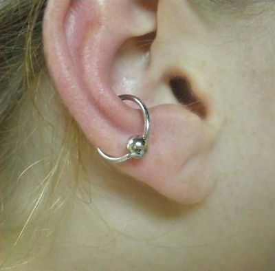 Sterilized 14g Double Gem Twister For Conch Piercing 12 99
