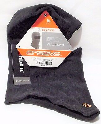 NEW ARCTIVA Black Large/X-Large Polartec BALACLAVA for Cold Weather Riding Micro