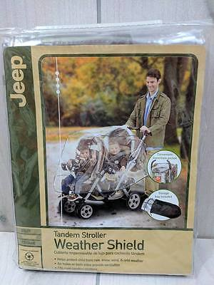 Tandem Stroller Weather Shield for Rain, Snow, Wind and Cold by Jeep