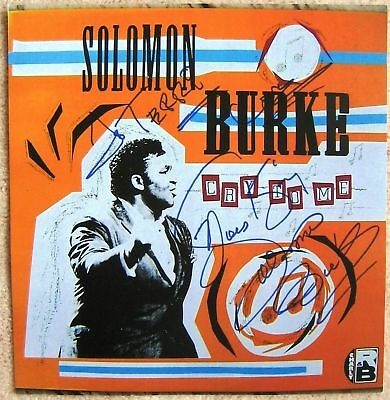 Signed SOLOMON BURKE POSTER In-Person w/proof Cry To Me Autograph