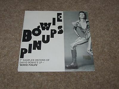 DAVID BOWIE = BOWIE PINUPS RARE NEW ZEALAND SAMPLER 7inch PROMO FOLD OUT SLEEVE
