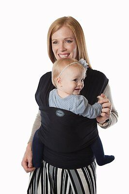 Authentic MOBY EVOLUTION BAMBOO Baby Wrap/Carrier/Sling-BLACK-Great for newborns