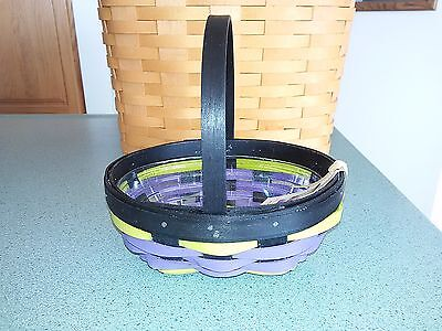 Longaberger 2016 Halloween Whatnots Booking basket exclusive & protector NEW