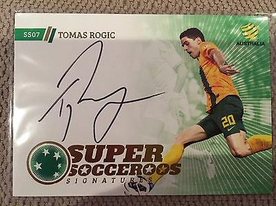2013-14 A League Trading Cards Super Socceroos Signature SS7 Tomas Rogic